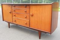 Long Retro Teak Sideboard by Younger
